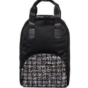 Wild Fable Backpack Purse Black And Tweed NEW NWT